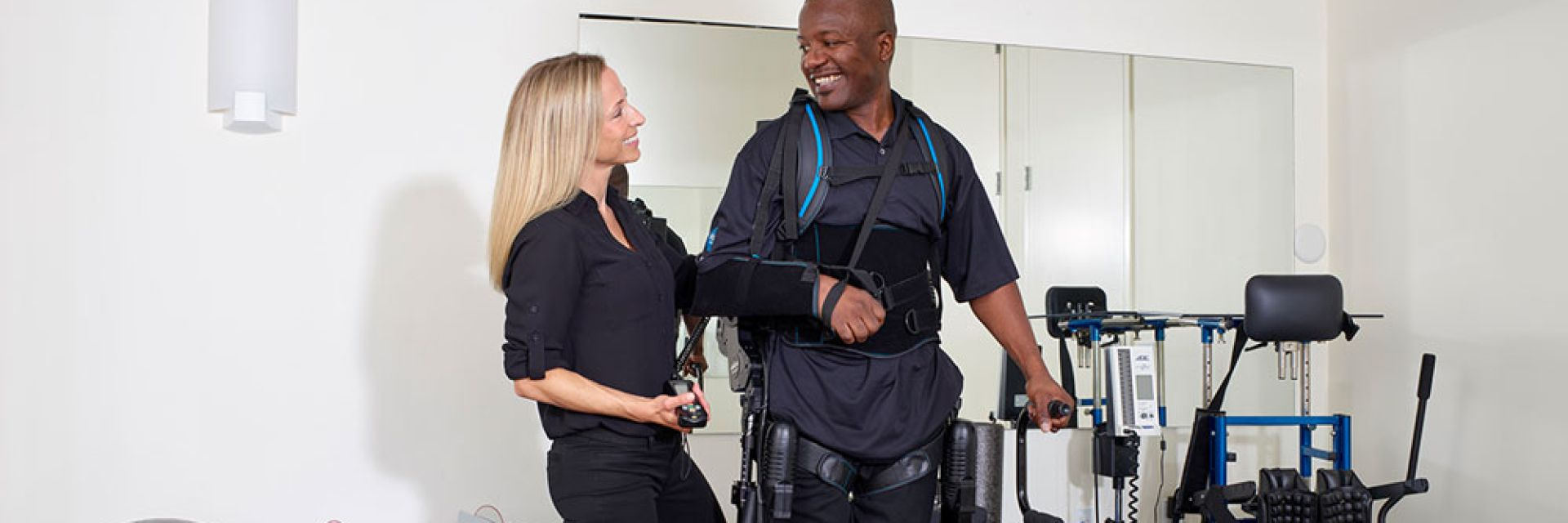 Looptraining in exoskelet