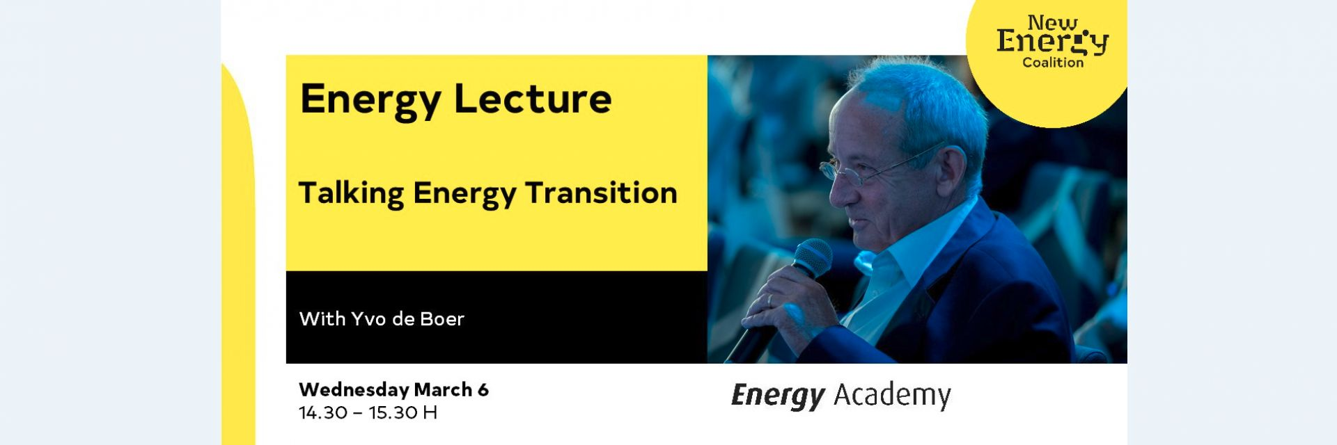 MASTERCLASS  Talking Energy Transition – with Yvo de Boer  STUDENTS ONLY