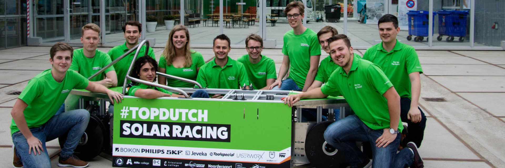 Testrace zonneauto Top Dutch Solar Racing Team